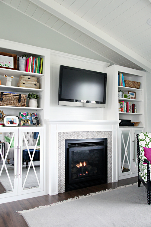 iheart organizing diy fireplace built in tutorial