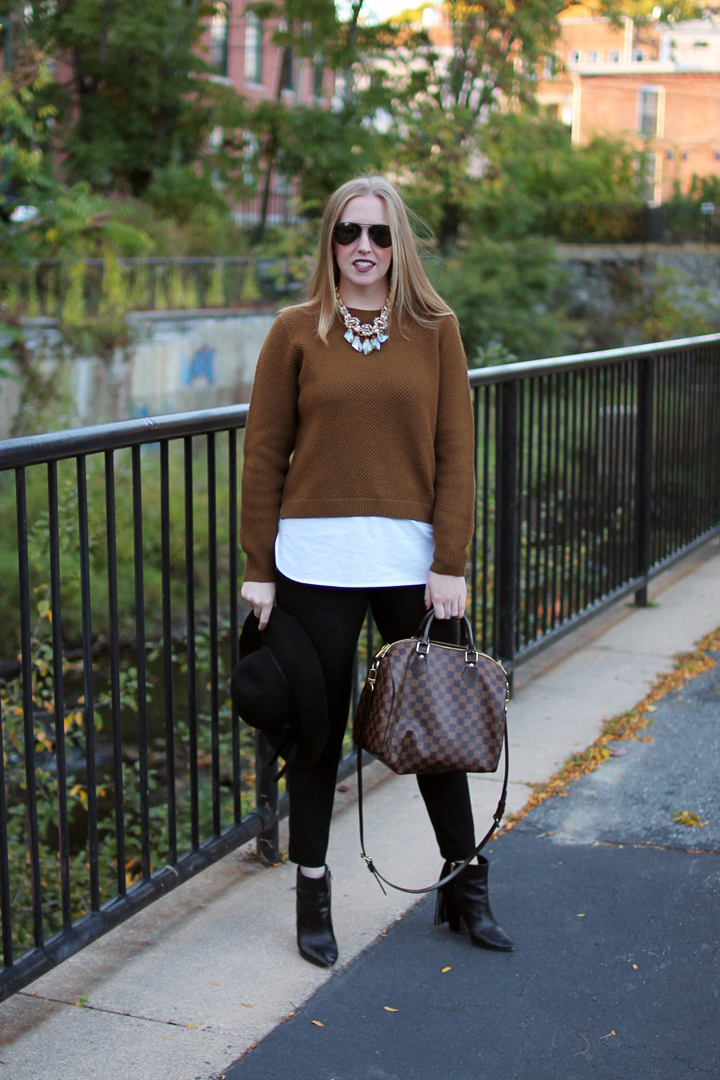 J.Crew Layered Sweater Toasted Acorn, Boston Blogger, Boston Style, Style-blueprint Blog,