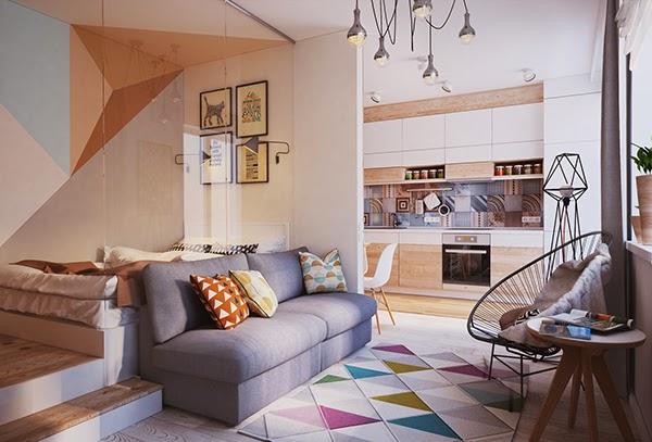 [Projects] 54 m� de mini apartamento con mosaico hidra�lico