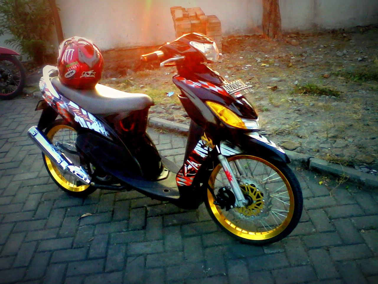 modifikasi motor mio sporty ring 17 terkeren