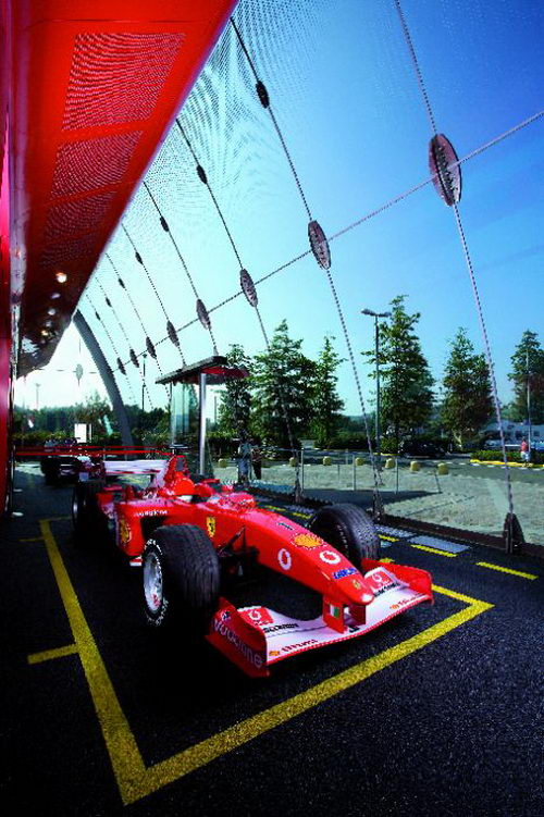 The Cool Design of Ferrari Factory Store