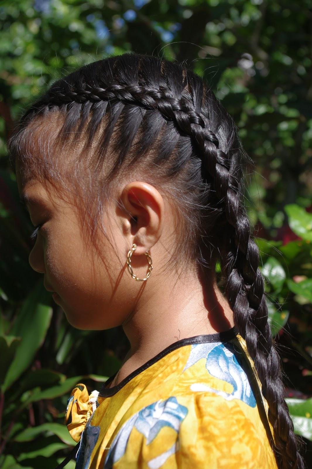 Braids & Hairstyles for Super Long Hair Micronesian Girl