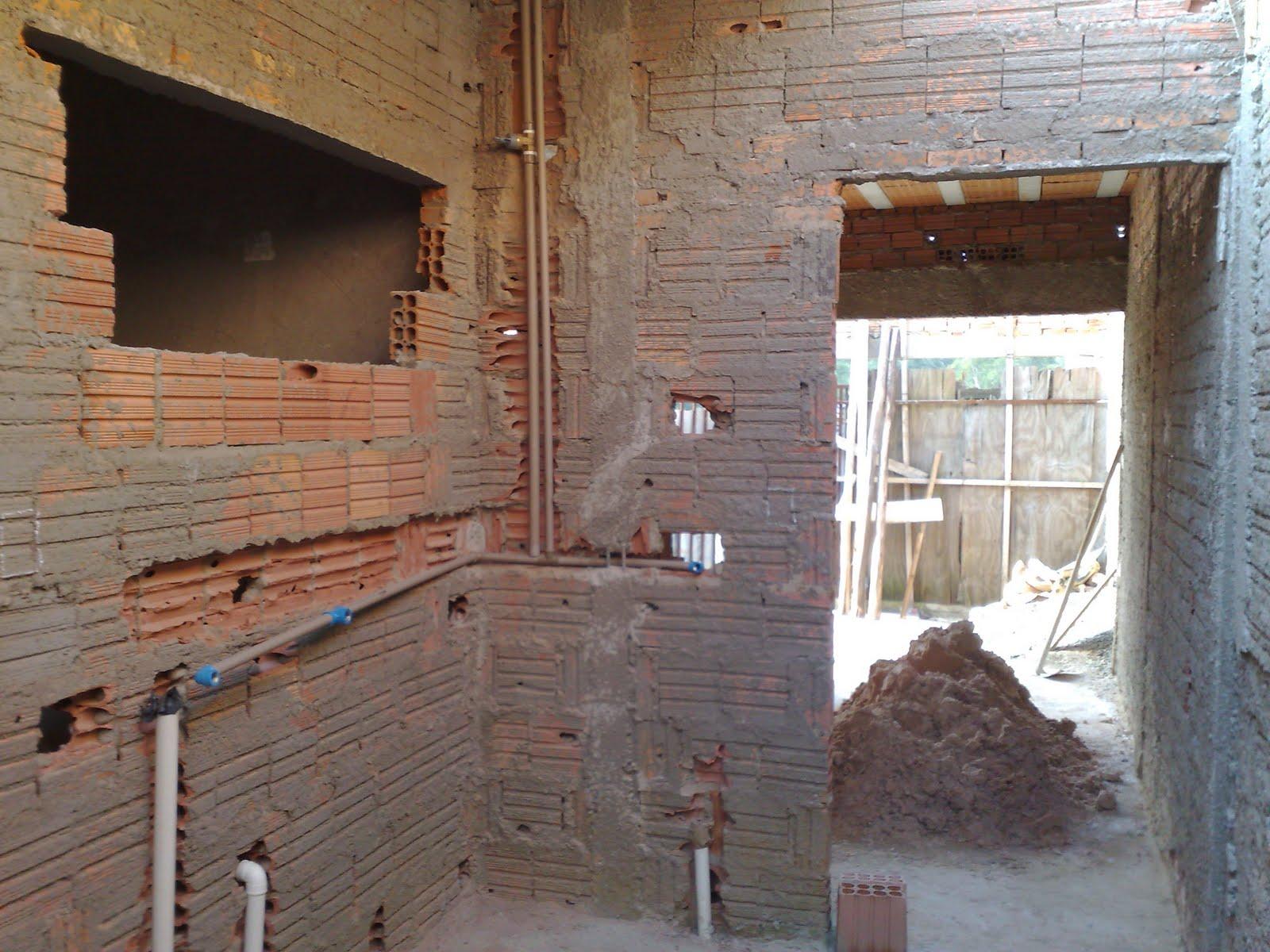 Passo a passo da construção da minha primeira casa encanamento -> Encanamento De Banheiro Com Banheira