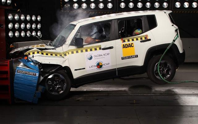 Jeep Renegade 2016 - 5 estrelas / 5 estrelas - latin ncap