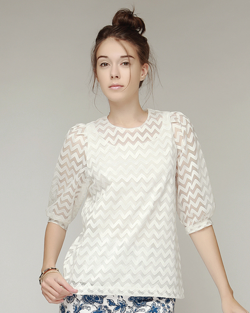 Zigzag Sheer Blouse