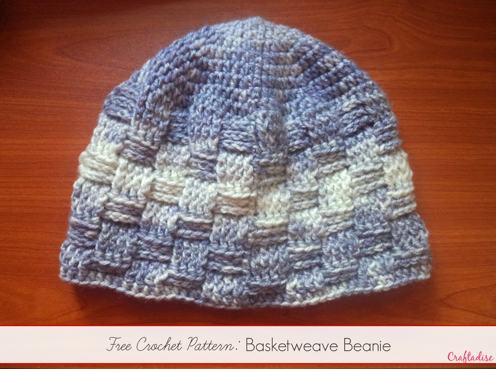 Made in craftadise top art crafts home decor blog in india free crochet pattern basketweave beanie bankloansurffo Choice Image