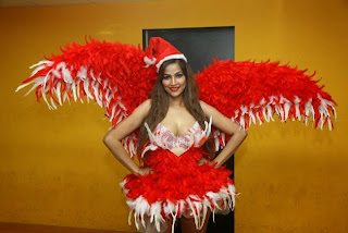 Acress Tanisha Singh  Christmas Theme Picture Shoot Gallery  0018