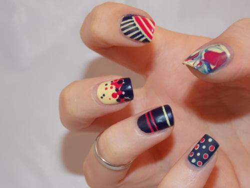 nail art butter london snog royal navy mix match blog beauté psychosexy
