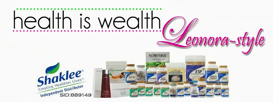 HEALTH IS WEALTH with www.leonora-style.com