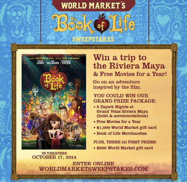 Cost Plus World Market's #BookOfLife Sweepstake & Party Planning!
