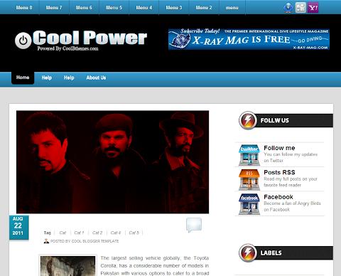 Cool Power Blogger Theme