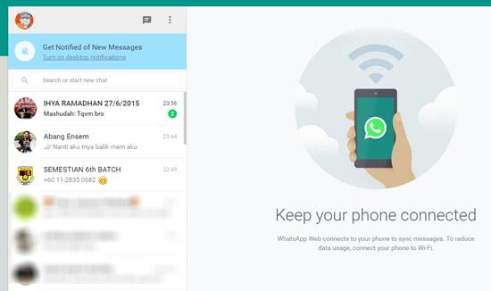 Cara Menggunakan WhatsApp menerusi Komputer
