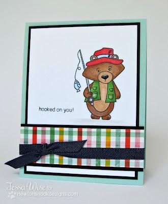 Fishing Bear card using Campfire Friends Stamp set