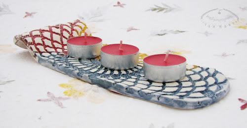 ceramiczna podkładka do świeczek