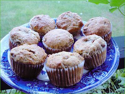 Banana Date Raisin Walnut Muffins