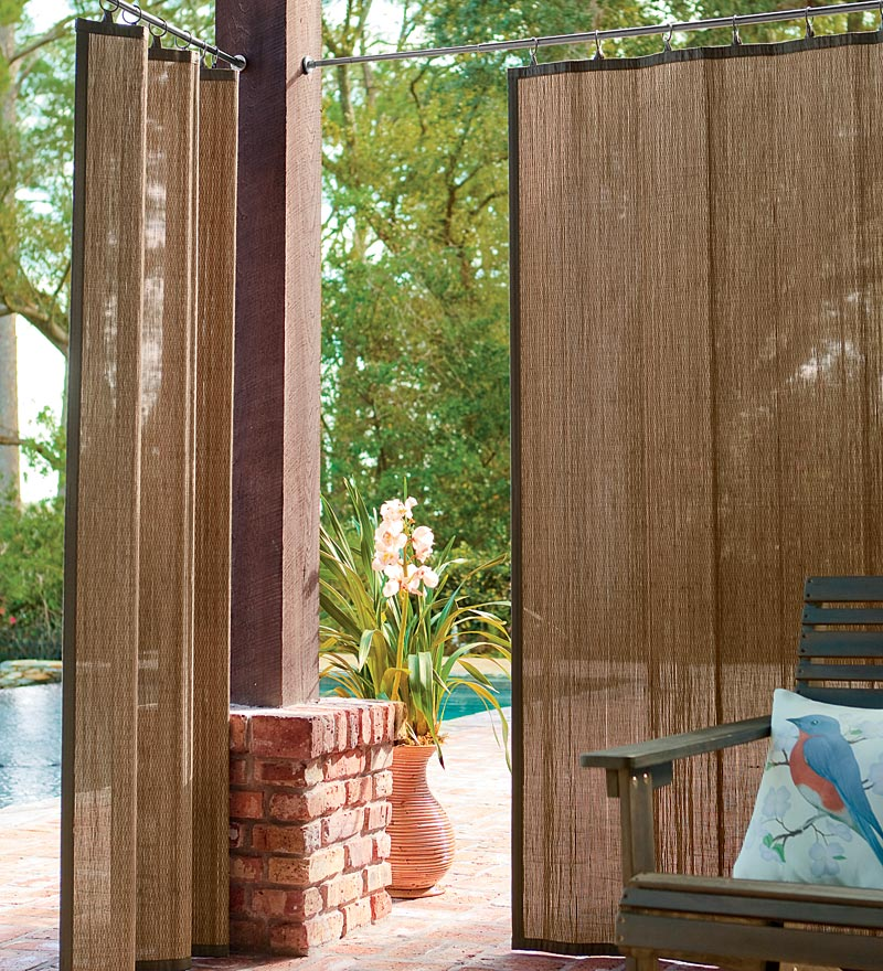 Bamboo grove photo bamboo exterior shades for Exterior window shade