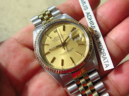 ROLEX OYSTER PERPETUAL DATEJUST TWO TONE - ROLEX 16013 GOLD DIAL