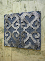 wool and silk relief rug sample