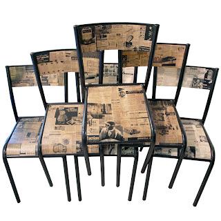 krzesła decoupage w stylu vintage