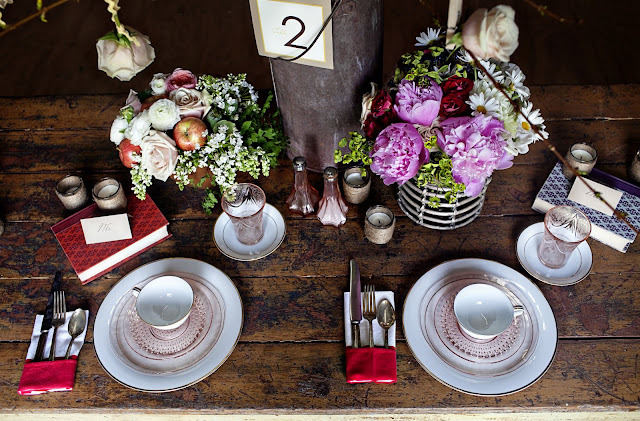 Table Setting for Rustic Wedding