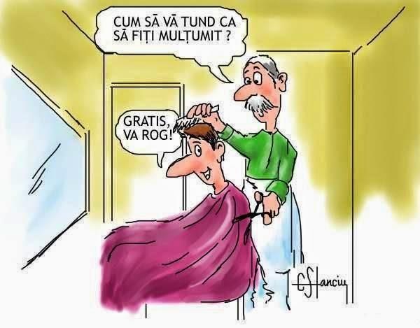 O tunsoare gratis va rog / Caricaturi hazlii cu frizeri