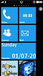 Enjoy Nokia Lumia Screen on Nokia 5800 With vhome 3.0.0