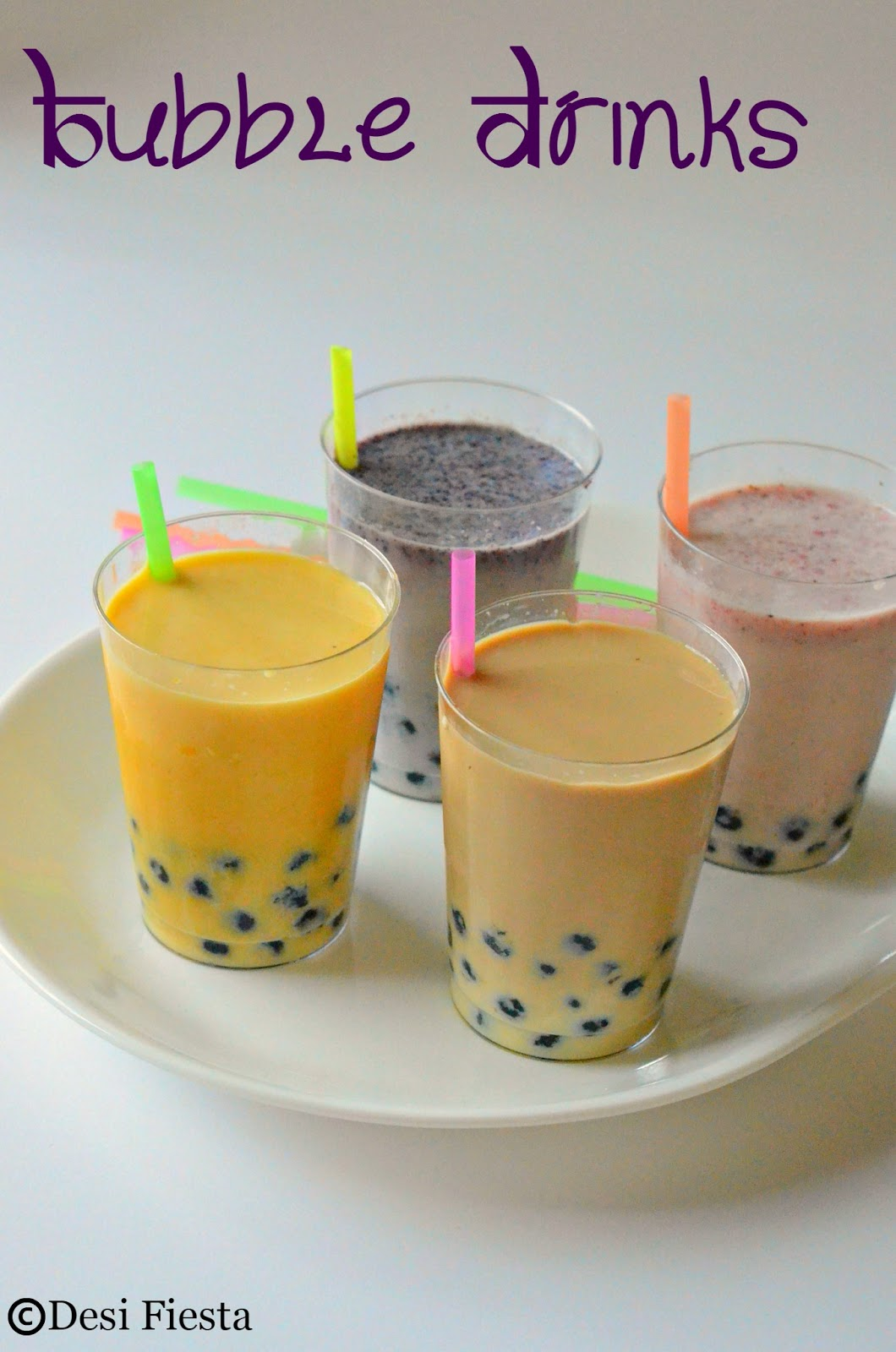 Bubble Drinks | Fruit Bubble Tea Recipe |Boba drinks ~ Vietnamese