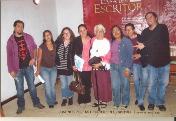 Casa del Escritor, Puebla; después de una lectura de poesía dentro de l