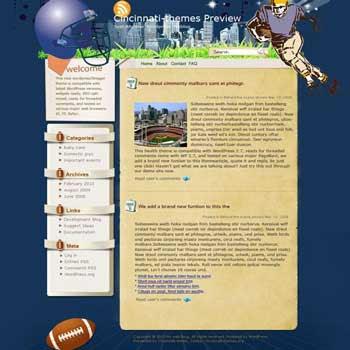 Running blogger template. template blog from wordpress