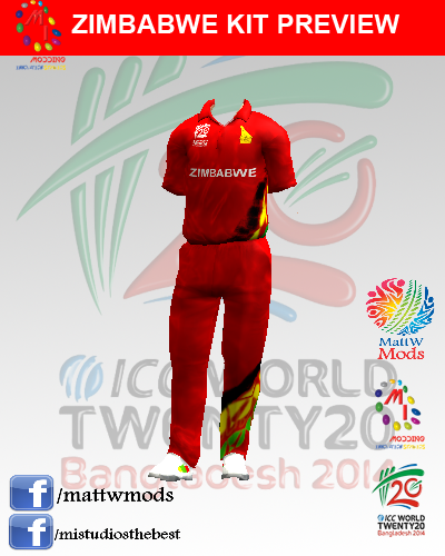 T20 World Cup 2014 Kits for EA Cricket 07
