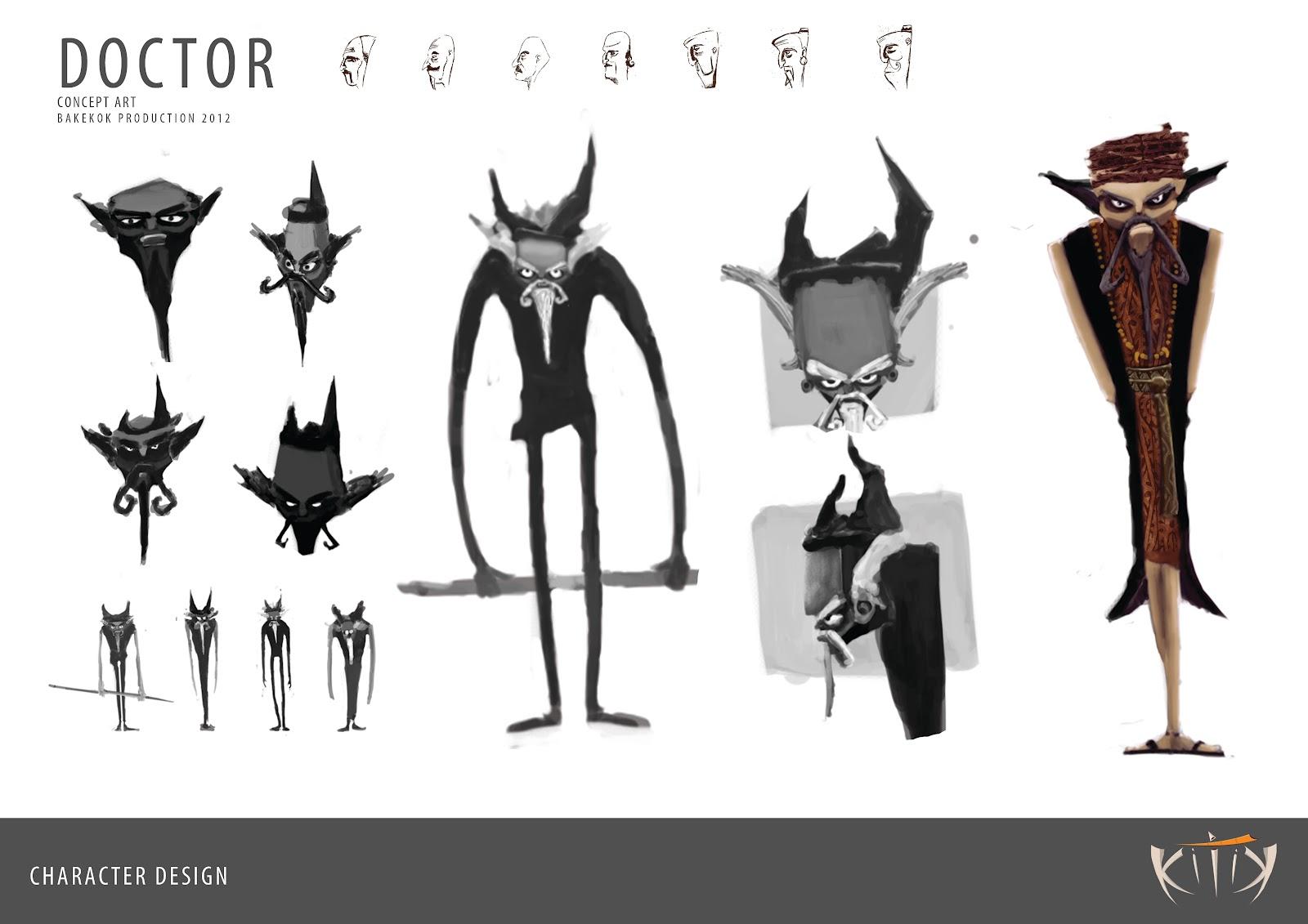 Character Design Villain : Kitik character design