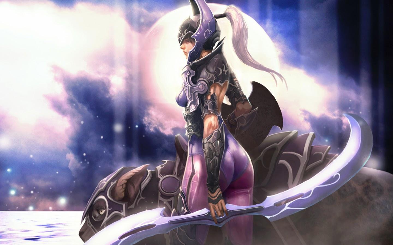luna moon rider wallpaper dota 2 girl
