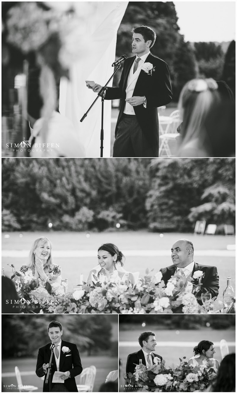 Wedding speech photography at Polesdon Lacey