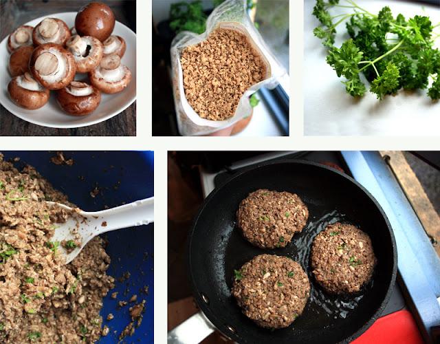 Oppskrift Soppburger Soyakjøtt TVP Vegetarburger Soyaburger Hjemmelaget Burger Uten Kjøtt Kjøtterstatning
