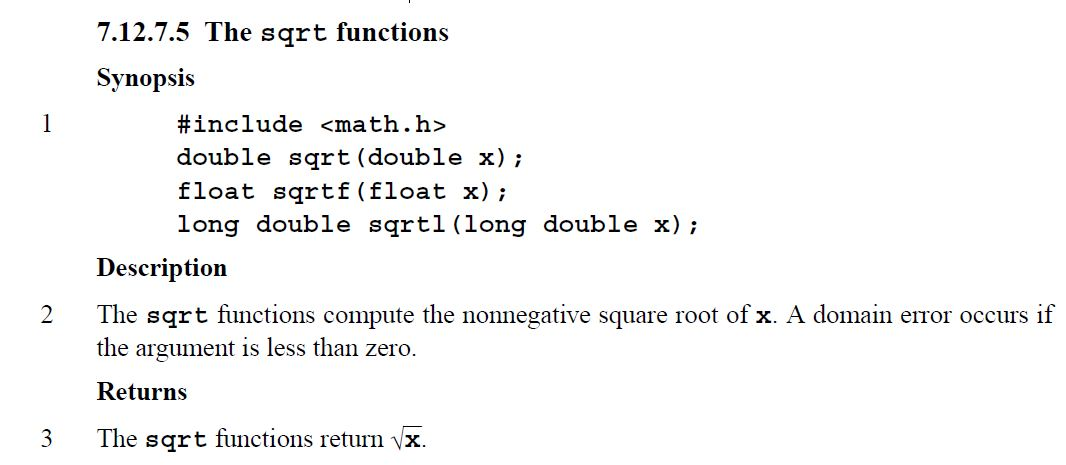 Lessons In Coding: The sqrt Function in C & C++