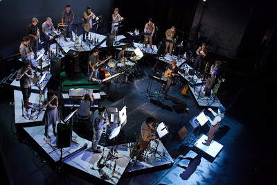 "Darcy Argue's innovative big band stage set-up for ""Brooklyn Babylon"""