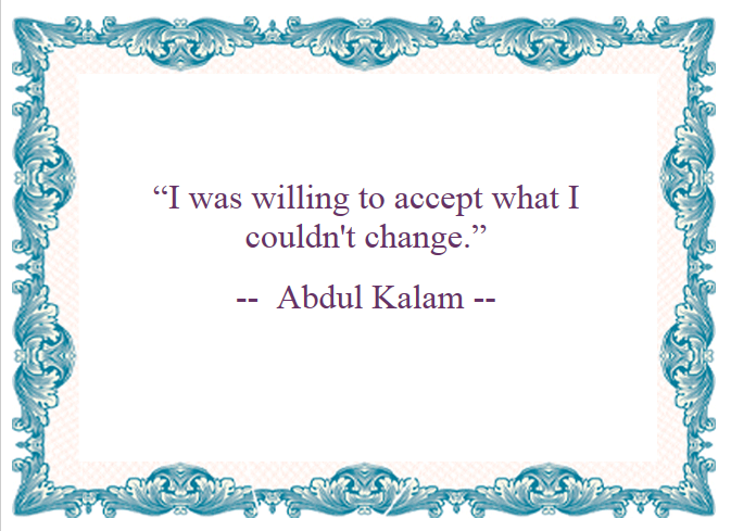 Motivational Quotes : Accept - Kshitij yelkar  - www.yelkar.com
