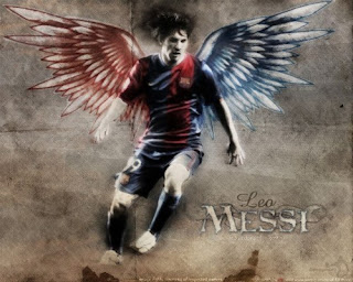 Lionel Messi having wings