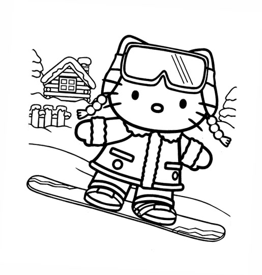 kitty cat character from Sanrio. Print this Hello Kitty coloring pages  title=