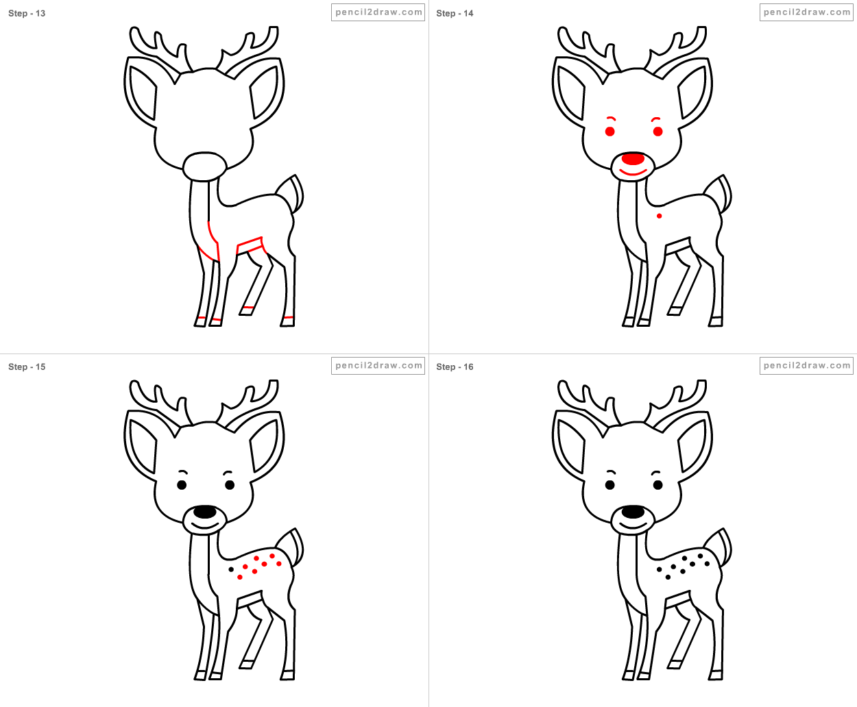 Slide 4 - Draw deer ki...