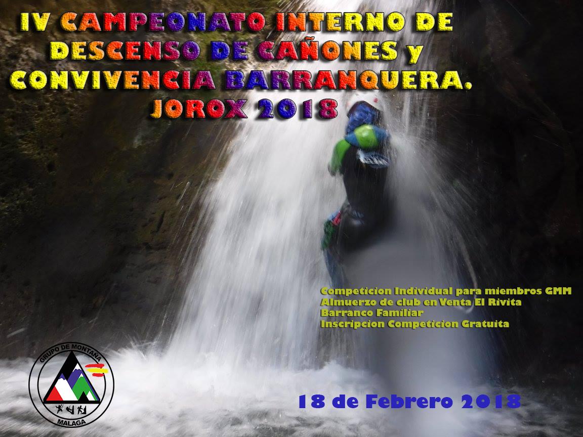 Competicion interna y Convivencia Barranquera. Jorox 2018