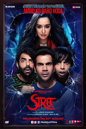 Poster Of Bollywood Movie Stree 2018 300MB Pdvd Full Hindi Movie