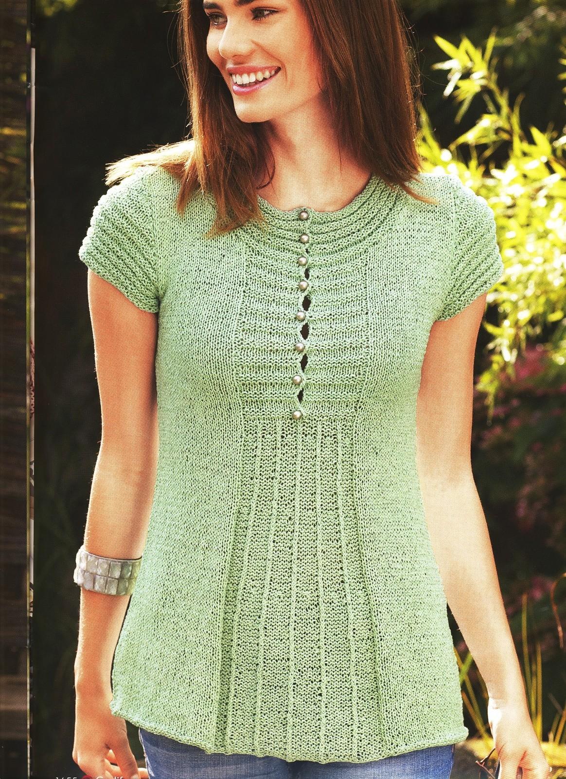 Пуловер з короткими рукавами від Гедіфра