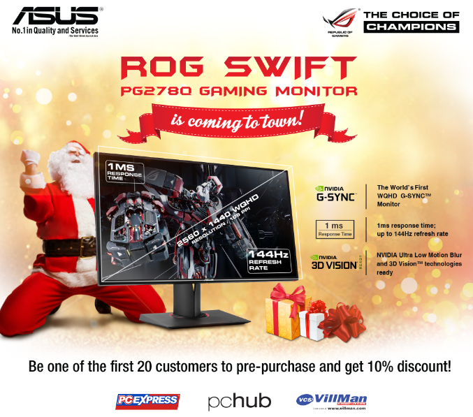 ASUS ROG Swift PG278Q Gaming Monitor Discount Promo
