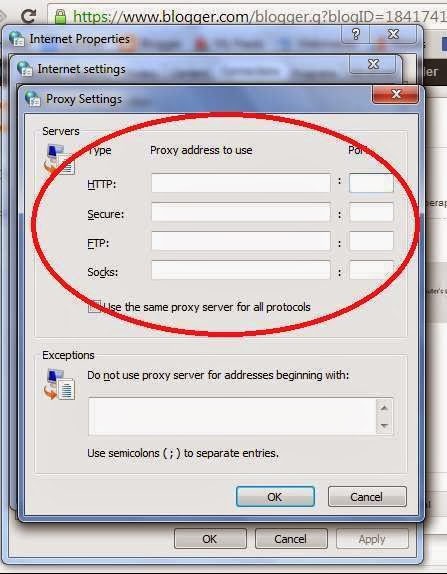 Proxy Setting in Google Chrome