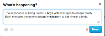 Twitter style book review of the Book: The importance of being Ernest