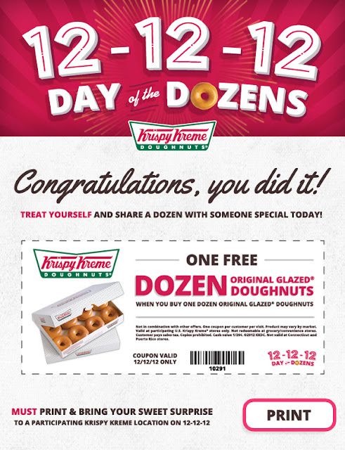 photo about Krispy Kreme Printable Coupons known as Krispy kreme discount codes no cost dozen may possibly 2018 : Walgreens no cost