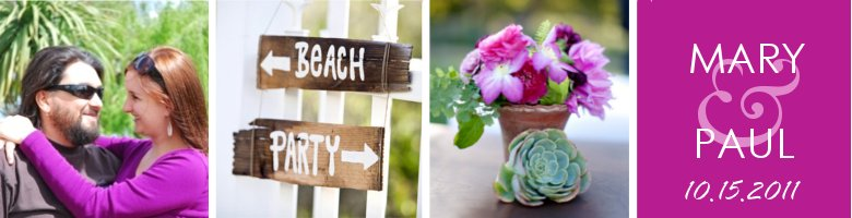 Mary and Paul's Beach Wedding