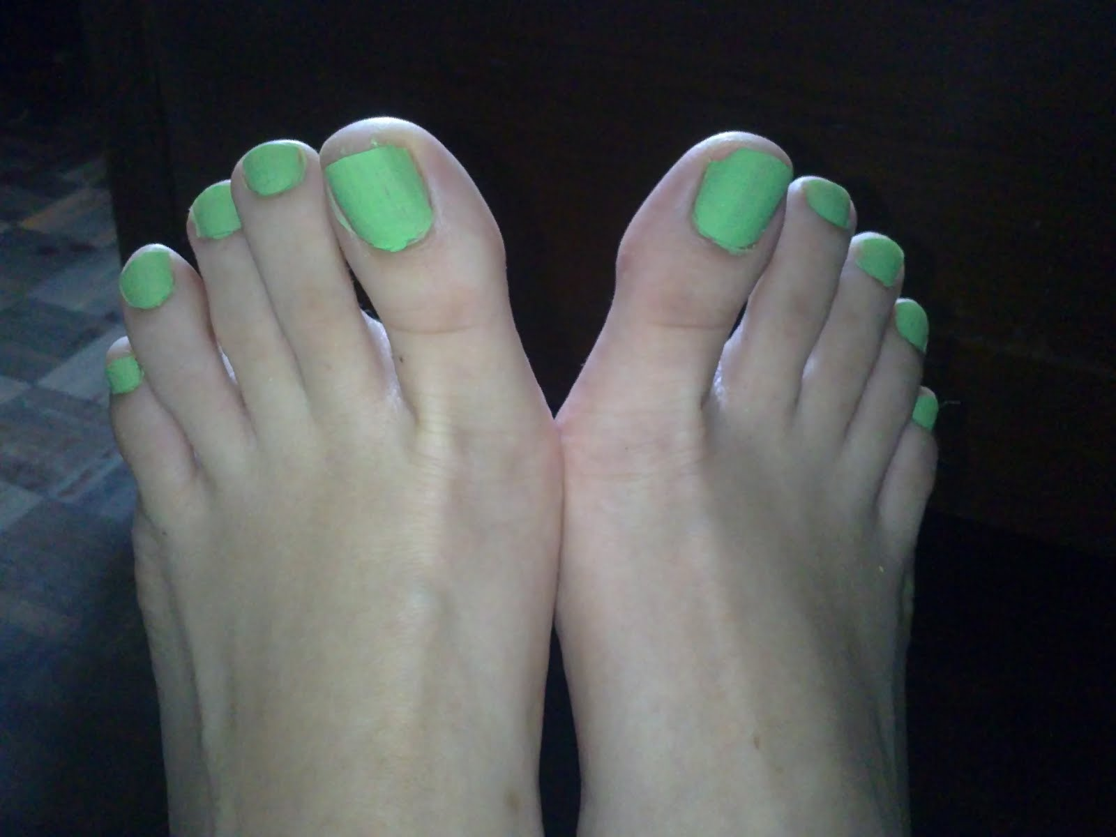 This Green Matte Is On The Toenails And I Felt Like Shrek After Putting It Effect Really There Very Powdery Looks Cakey Imagine