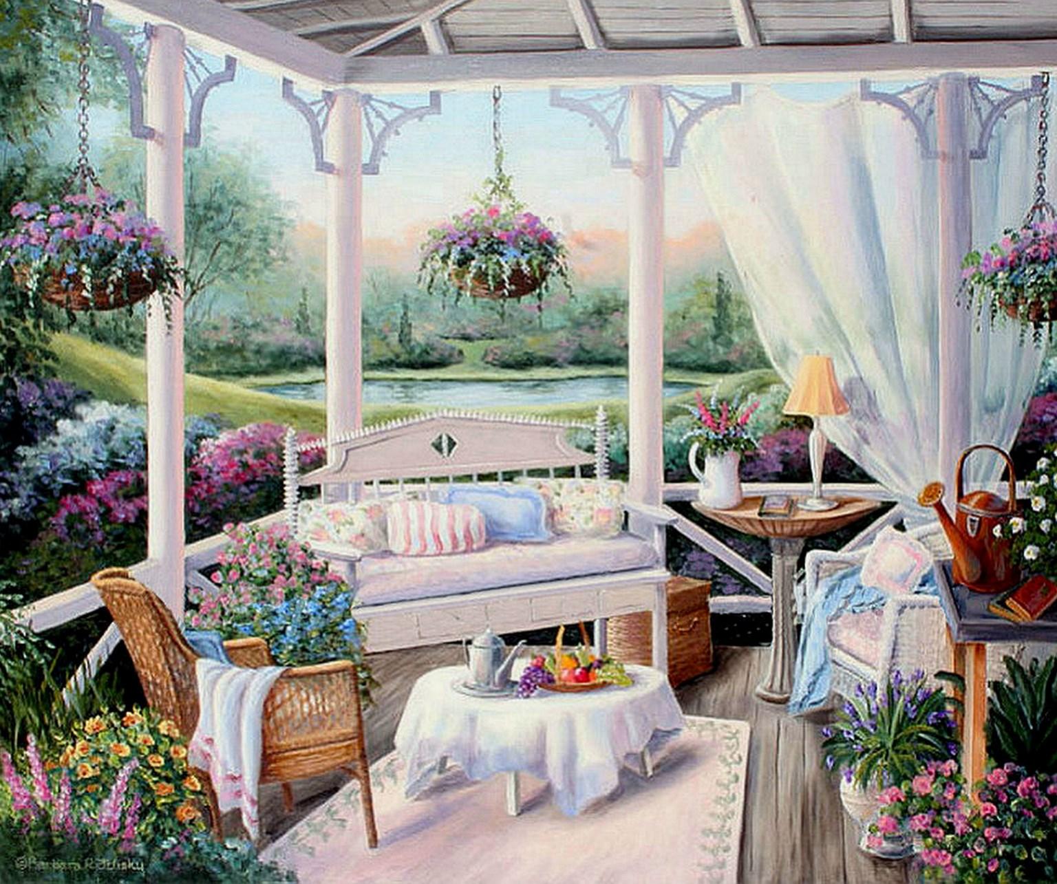 Cuadros modernos pinturas y dibujos cuadros de casas con Cuadros para el jardin